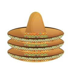 Mexican classic hat icon vector