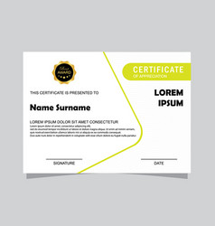 modern certificate template and background vector image