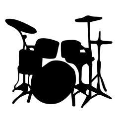 musical instrument silhouette drums vector image