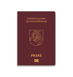 Passport lithuania vector
