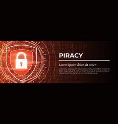 Piracy the red modern digital background vector
