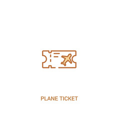 Plane ticket concept 2 colored icon simple line vector