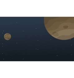Planet space cartoon background vector