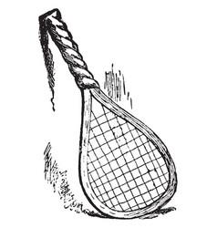 Racket vintage vector