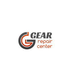 Repair center gear badge vector
