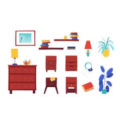 Room furnishing set vector