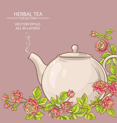 rose tea background vector image