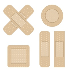 Set of Adhesive bandage vector