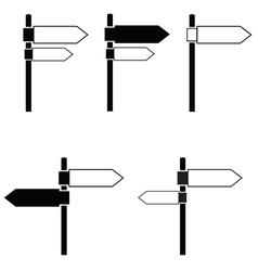 Signboard black vector