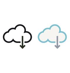simply cloud storage minimal icon vector image