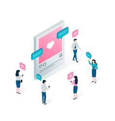 social media blogging and social network concept vector image