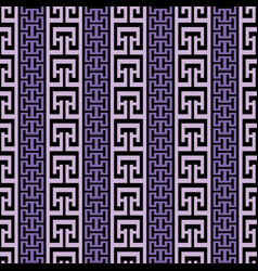 Striped ornate greek seamless border pattern vector
