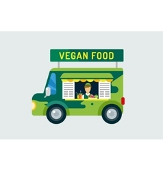 Vegan city food car icon Nature product vitamin vector