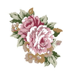 vintage roses design element vector image
