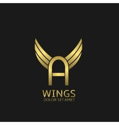 Wings A letter logo vector image