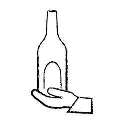 Winne bottle beverage vector