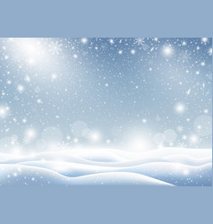winter background of falling snow christmas card vector image