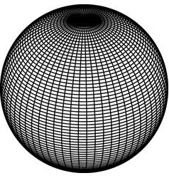 Wireframe sphere globe on white background vector