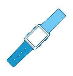 Wristle watch isolated icon vector