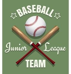 Baseball game team emblem vector image