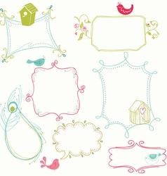 cute doodle frames vector image vector image