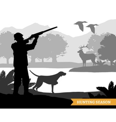 Hunting Silhouette vector image