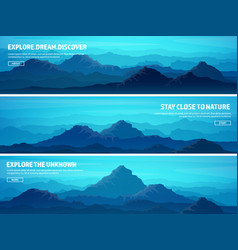 mountains and forest wild nature landscape vector image vector image