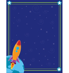 space and rocket vector image