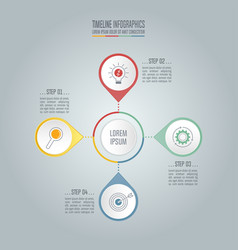 timeline business concept with 4 options vector image