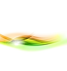 background green wave vhite horizontal vector image