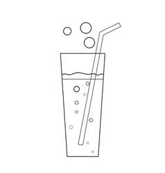 Glass soda icon transparent vector image vector image