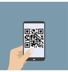 Mobile smartphone qr code vector image