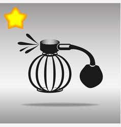 perfume aerosol black icon button logo symbol vector image