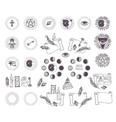 Astrology esoteric icons vector image