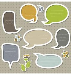 Collection of cute speech bubbles vector