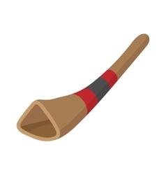 Didgeridoo australian musical instrument vector image vector image