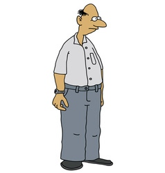 Funny old man vector image