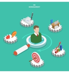 HR management flat isometric concept vector image