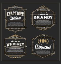 vintage frame design for labels vector image