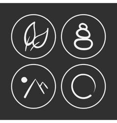 hand drawn zen icons vector image vector image