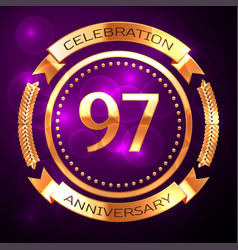 ninety seven years anniversary celebration with vector image