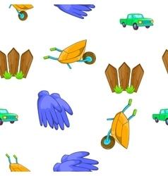 Ranch pattern cartoon style vector image