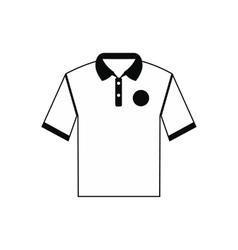 White men polo shirt icon vector image
