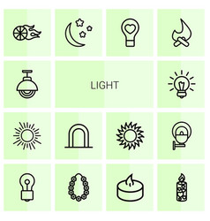 14 light icons vector