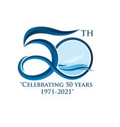 50 th simple logo designs modern for birthday vector