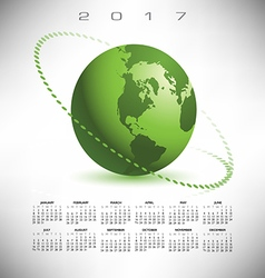 A 2017 global communications calendar vector