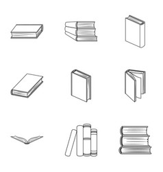 A set of pictures with books books notebooks vector