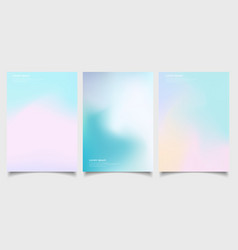 abstract holographic poster set with gradient vector image