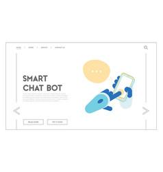 artificial intelligence futuristic digital vector image