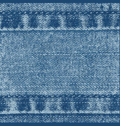 background of denim fabric with seams vector image
